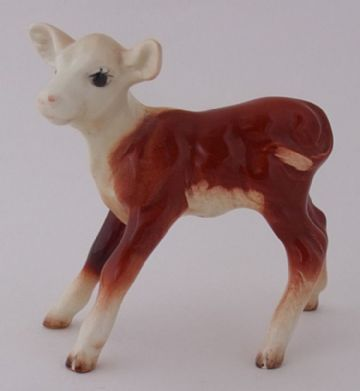 Early Beswick Hereford Calf Cattle Figure Model Number 901B